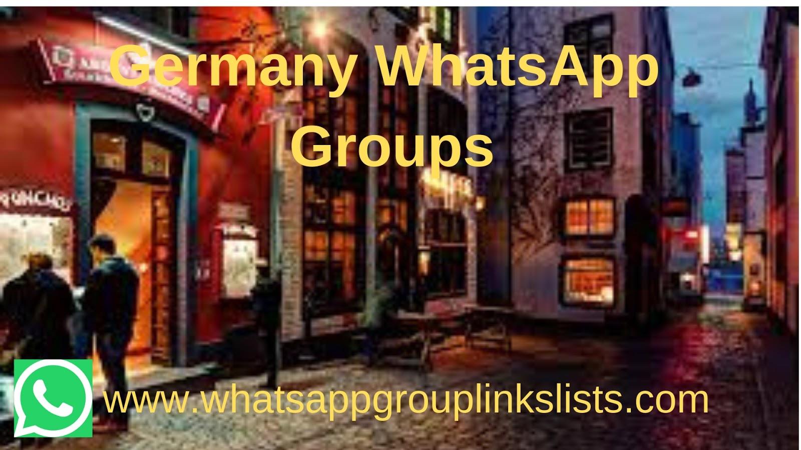 Join Germany WhatsApp Group Links List