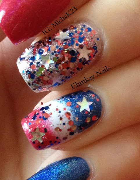ehmkay nails happy fourth of july