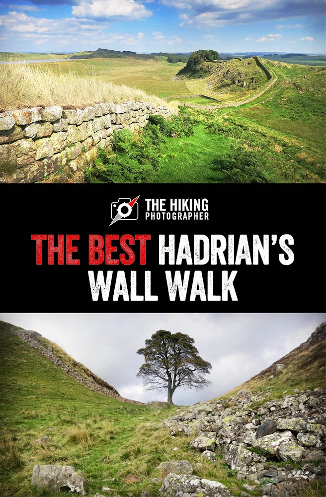 Best Hadrian's Wall Walk route map - roman Northumberland