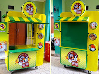 Gerobak ayam geprek -Gerobak Fried Chicken- Gerobak makanan unik -Gerobak unik Bandung Rp 5.900.000