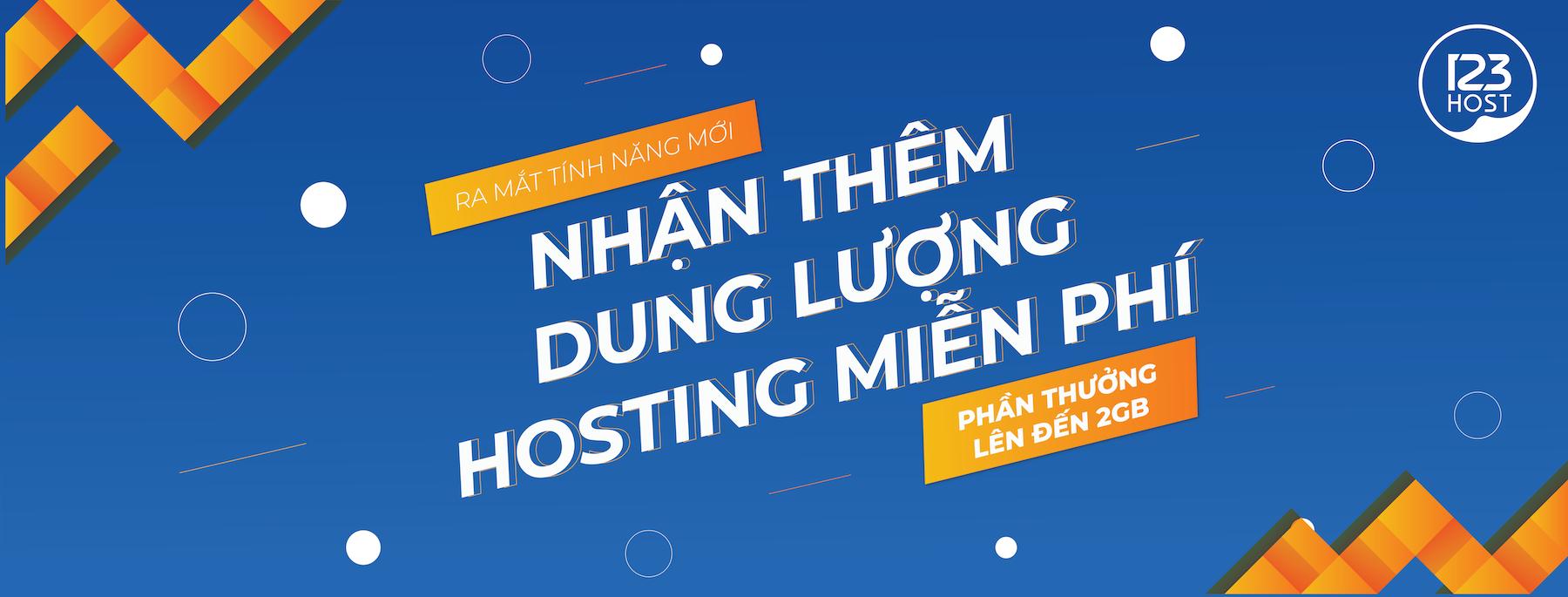 Hướng dẫn đăng kí và nhận thêm dung lượng miễn phí Web Hosting ở 123Host.Vn