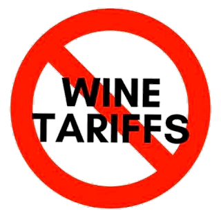 No Wine Tariffs Sign