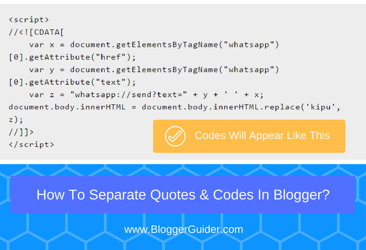 How To Separate Codes & Quotes on Blog Post Using CSS?