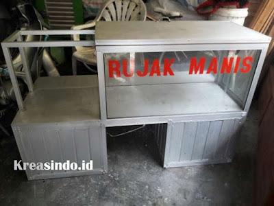 Harga Gerobak Aluminium Motor Jualan Rujak