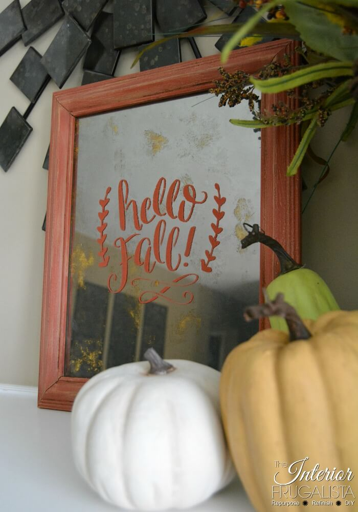From Picture Frame To DIY Fall Antiqued Mirror