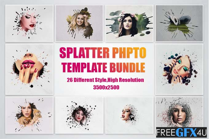 Splatter Photo Template Pack Free Download