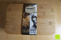 Banderole: Brotkasten aus Metall mit Deckel aus Bambus | 32 x 20 x 12 cm | Bewahren Sie Ihr Brot luftdicht und hygienisch auf