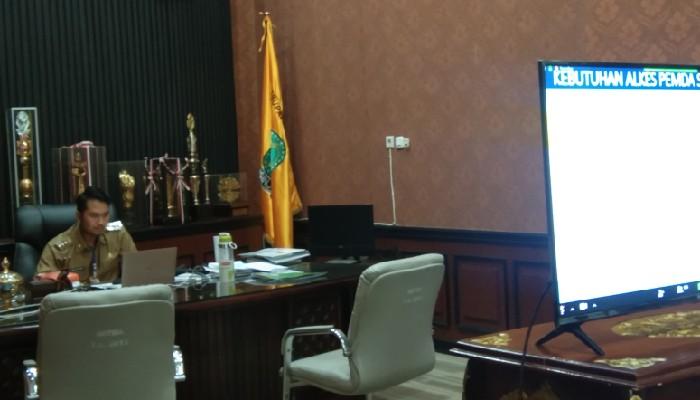 Bupati Sinjai Video Conference Bersama Mendagri Soal Corona