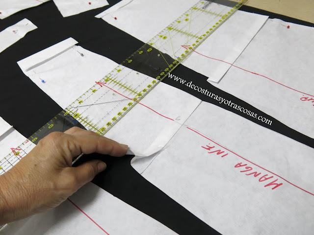como reducir el largo sobre el patrón
