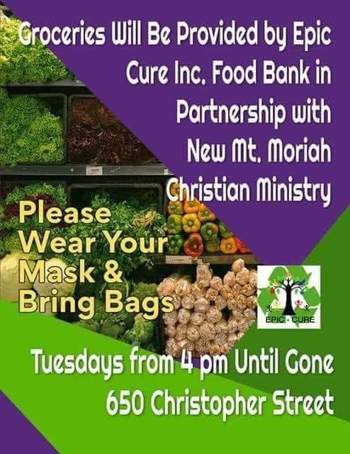 Free food at Mt. Moriah West Augustine