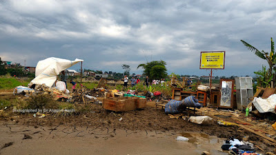 Bantaran sungai Cimanuk Garut yang dilandan banjir bandang.