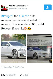 Peugeot 504 redesigned