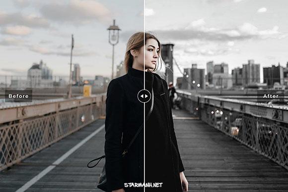 Presets Charcoal Pro Lightroom tone màu đen(Mobile/Desktop)