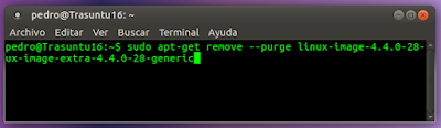 sudo apt-get remove --purge linux-image-4.4.0-28-generic linux-image-extra-4.4.0-28-generic