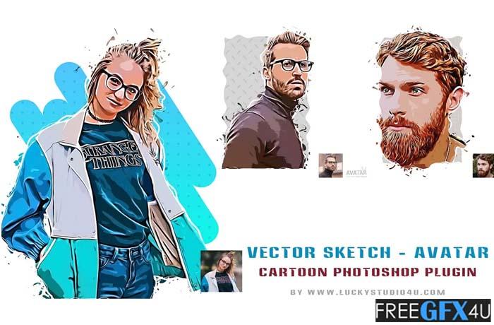 Avatar V2.0 Photoshop Plugin – Convert Photo To Vector Look
