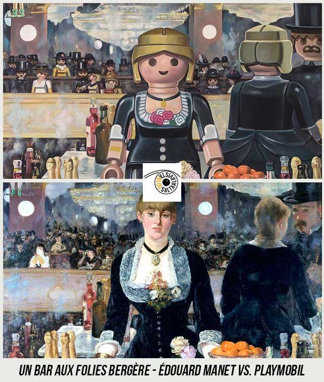Cuadro-Un-bar-aux-Folies-Bergère-de-Édouard-Manet-Hecho-con-Playmobil