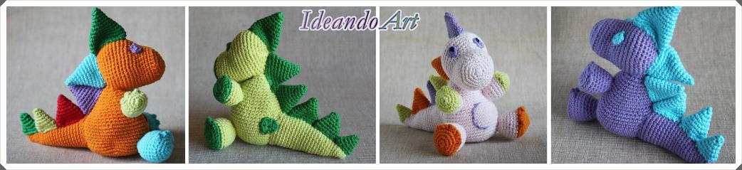Dragones amigurumi de crochet