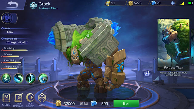 Tank Terkuat di Mobile Legends Season 11 Grock