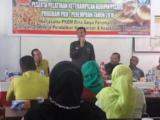 Wawako Pariaman Dr.Genius Umar Buka Pelatihan Keterampilan Keripik Pisang Program PKH Tahun 2016