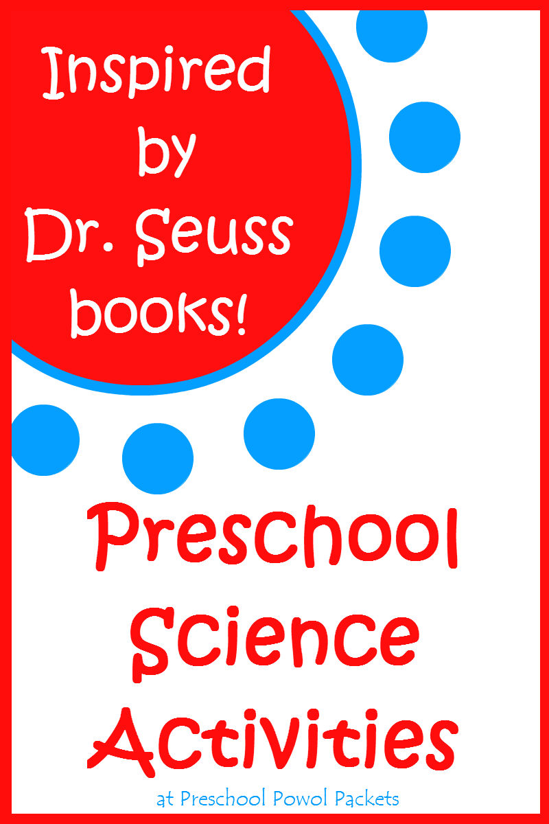 inspired by dr seuss science activities preschool powol packets