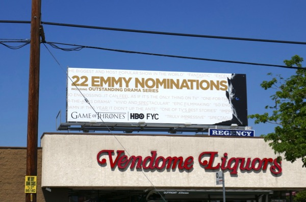 Game of Thrones season 7 Emmy nominee billboard