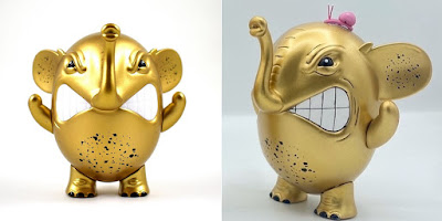 Charlie the Angry Elephant Gold Rush Edition Vinyl Figure by AngelOnce x UVD Toys
