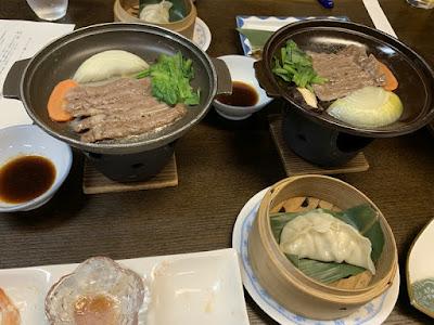 赤沢温泉旅館の夕食その2