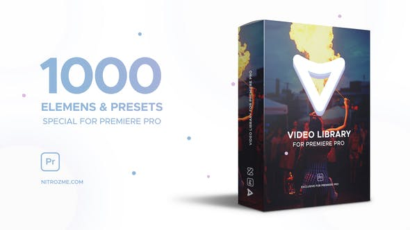 Video Library for Premiere Pro 1000 ELEMENS & PRESETS