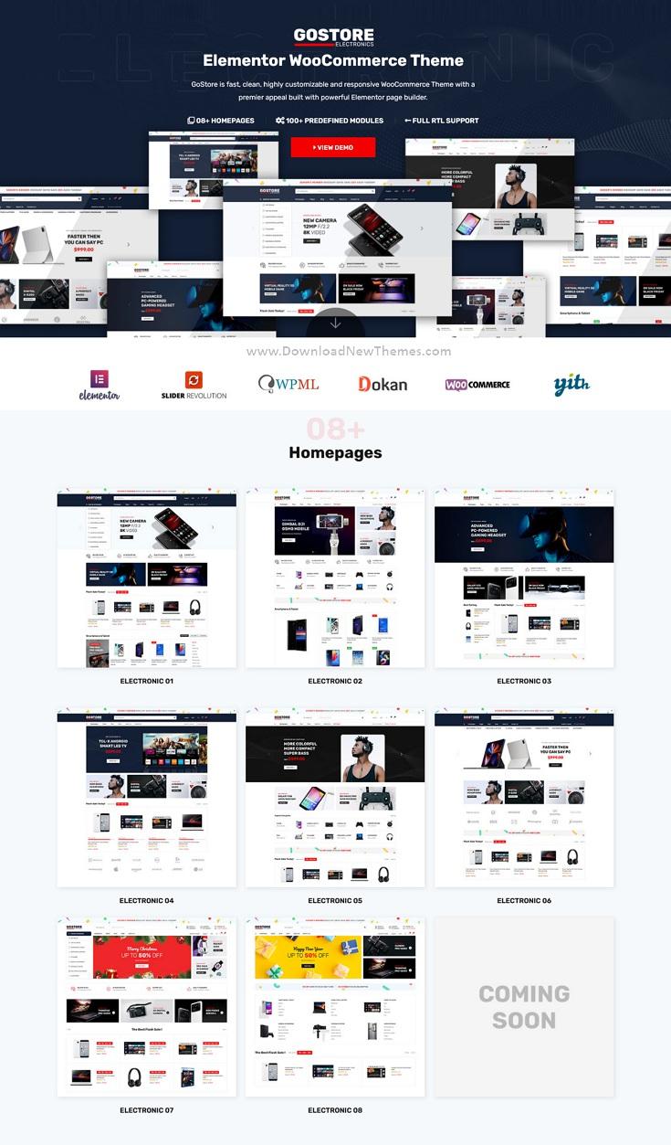 Elementor WooCommerce WordPress Theme