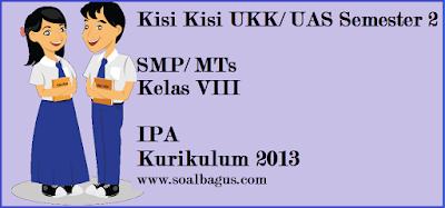 Download kisi kisi penulisan soal ulangan ukk/ uas ipa kls 8 semester 2/ genap kurikulum 2013 dari soalbagus.com gratis.