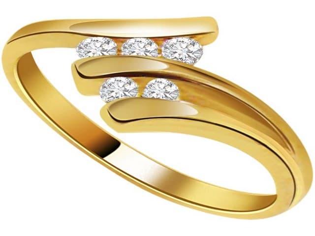 خواتم ذهب رقيقه جدا 15 | Simple gold rings 15