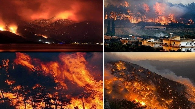 Fire in Turkey In More Than 60 Places,  At Least Three People Were Killed and 140 Injured