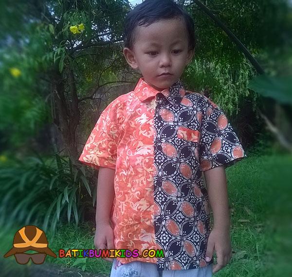 Kemeja Batik Anak Elang Sulur Kawung series.