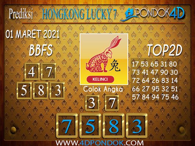 Prediksi Togel HONGKONG LUCKY7 PONDOK4D 01 APRIL 2021