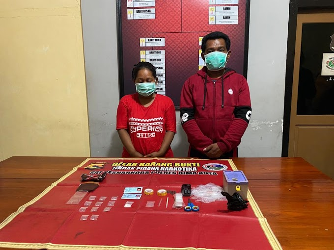 Terlibat Bisnis Narkoba, Suami Istri di Bima di Diciduk Sat Narkoba Polres Bima Kota