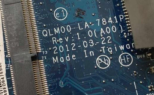 LA-7841P REV 1.0(A00) QLM00 Dell XPS14 L421X Bios