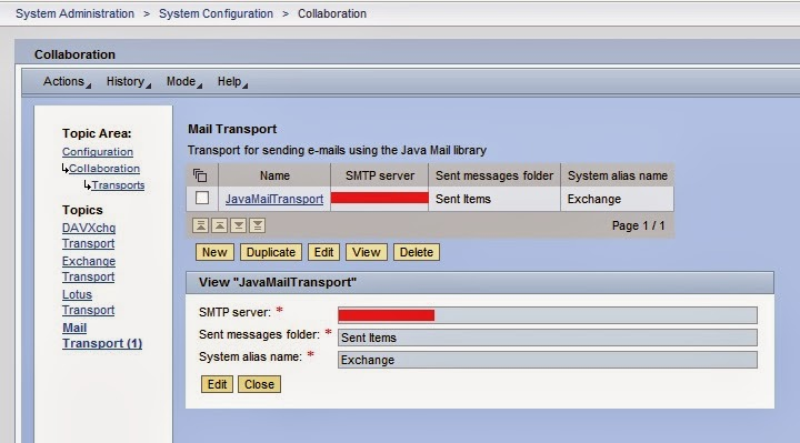 EMAIL Configuration in Portal