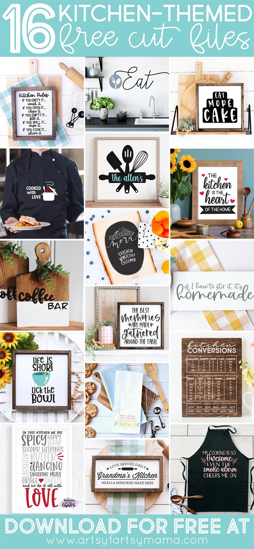 16 FREE Kitchen Cut Files