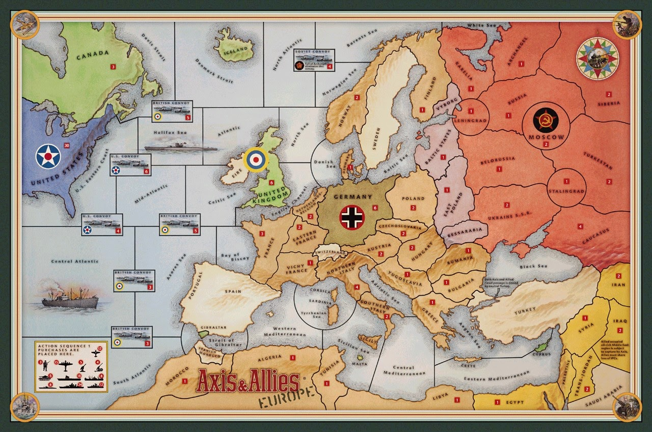 Advertisement map games for europe