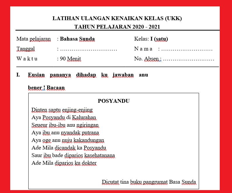 gambar soal dan jawaban pat bahasa sunda kelas 1 sd