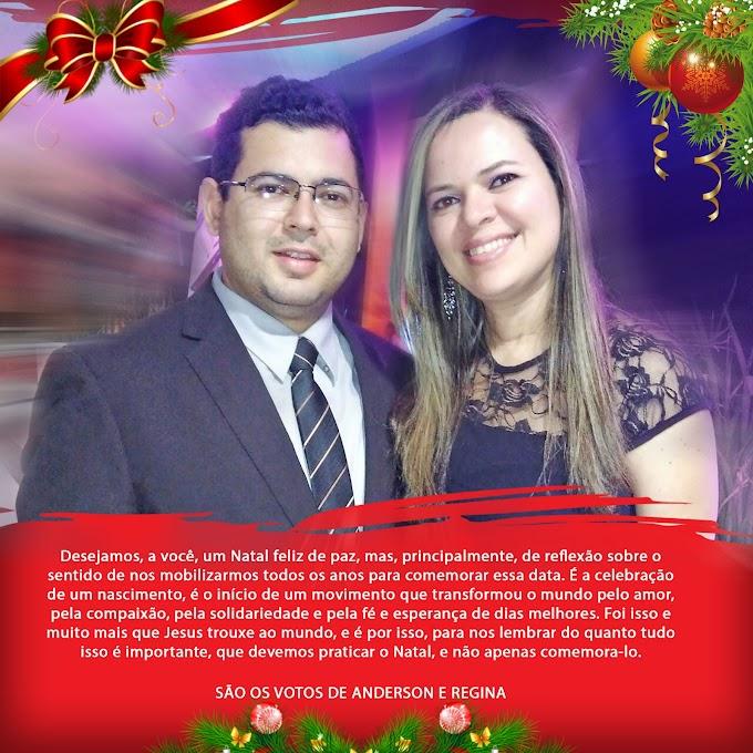 Advogado Dr. Anderson Soares e esposa Regina deixam suas mensagens de Natal e Ano Novo aos caxienses