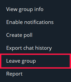 Opsi Keluar Dari Grup Telegram