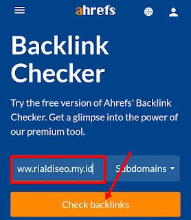 Cek backlink