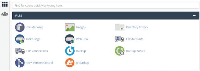 افتح مدير الملفات من Cpanel في موقع الويب الخاص بك