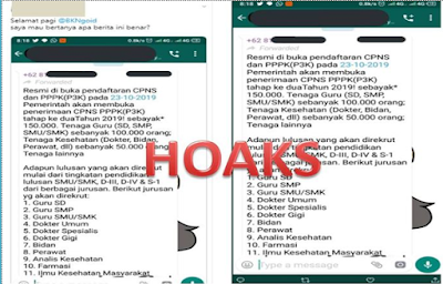 Hoaks Rekrutmen Cpns Dibuka 23 Oktober 2019 Inspirasi