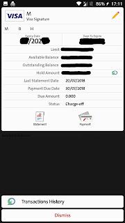 BB credit card info