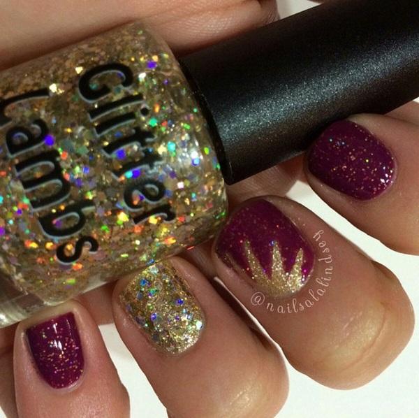 Million Dollar Gradient Gold Glitter Nail Polish By Glitter Lambs