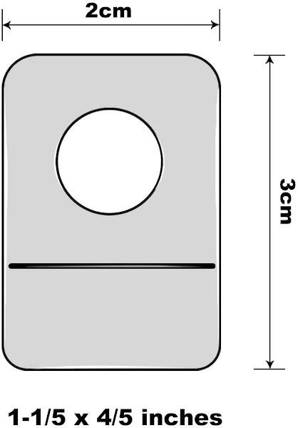 Thẻ treo lỗ tròn Round hole hang tabs