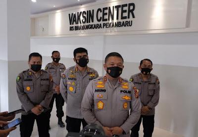 Kapolda Riau Fungsikan Eks Gedung Mapolda Untuk Vaksin Center COVID-19