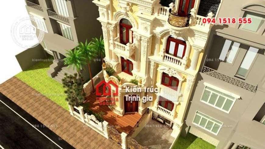 Thiết kế nhà phố 8m mặt tiền phong cách tân cổ điển đẹp nhất - Mã số NP1331 - Ảnh 3